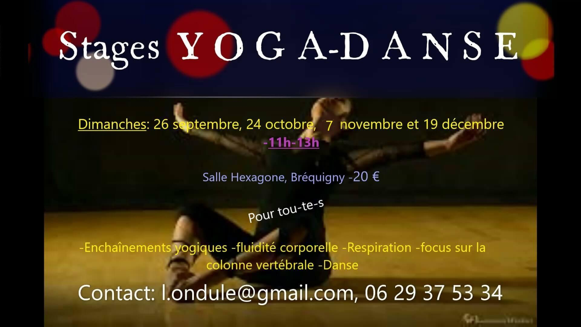 Yoga danse stage